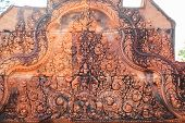 Intricacy of the carving at banteay srei