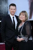 Chris Evans and his mother Lisa Evans at the 85th Annual Academy Awards Arrivals, Dolby Theater, Hollywood, CA 02-24-13