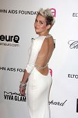 Miley Cyrus at the Elton John Aids Foundation 21st Academy Awards Viewing Party, West Hollywood Park