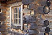 A Corner Of Log House.