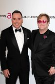 David Furnish, Elton John at the Elton John Aids Foundation 21st Academy Awards Viewing Party, West