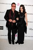 Bono and daughter at the Elton John Aids Foundation 21st Academy Awards Viewing Party, West Hollywood Park, West Hollywood, CA 02-24-13