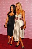 HOLLYWOOD - AUGUST 18: Kimberly Kardashian and Paris Hilton at the party celebrating the launch of P