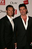 HOLLYWOOD - AUGUST 27: Ryan Seacrest and Simon Cowell at the TV Guide Emmy After Party at Social Aug