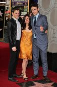 James Franco with mother and brother at the James Franco Star on the Walk of Fame Ceremony, Hollywood, CA 03-07-13