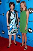 PASADENA, CA - JULY 19: Anne Sweeney and Calista Flockhart at the Disney ABC Television Group All St