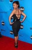 PASADENA, CA - JULY 19: Meta Golding at the Disney ABC Television Group All Star Party on July 19, 2