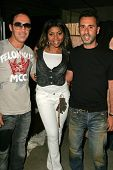 WEST HOLLYWOOD - AUGUST 24: Philippe Naouri with Taraji P. Henson and Alexandre Caugant at the Antik