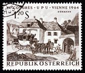 Postage Stamp Austria 1964 Changing Horses, By Julius Hormann