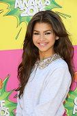 Zendaya at Nickelodeon's 26th Annual Kids' Choice Awards, USC Galen Center, Los Angeles, CA 03-23-13