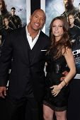 Dwayne Johnson, Lauren Hashian at the