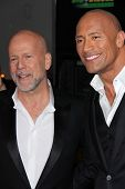 Bruce Willis, Dwayne Johnson at the