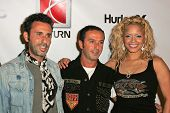 HOLLYWOOD - AUGUST 02: Alexander Caucant, Jules Naouri with Blu Cantrell wearing Clothing by Antik D