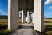 image of girder  - motorway bridge landscape - JPG