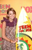 UNIVERSAL CITY - AUGUST 20: Mischa Barton at the 2006 Teen Choice Awards - Press Room at Gibson Amph