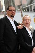 Penn Jillette, Teller at Penn & Teller's induction into the Hollywood Walk Of Fame, Hollywood, CA 04-05-13