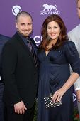 Hillary Scott and Chris Tyrrell at the 48th Annual Academy Of Country Music Awards Arrivals, MGM Gra
