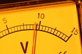 stock photo of ohm  - Close up of an Electric Voltage Meter - JPG