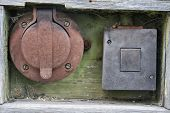 Old power outlet