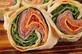 Italian Wrap Sandwich Closeup