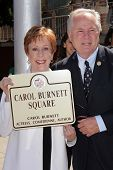Carol Burnett, Tom LaBonge at the unveiling of Carol Burnett Square at Selma and Highland in Hollywo