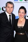 Shepard Fairey and guest at the MOCA Gala, MOCA Grand Avenue, Los Angeles, CA 04-20-13