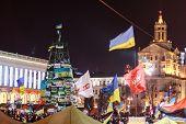 Kiev (kyiv), Ukraine - December 4, 2013: Hundreds Of Thousands Protest In Kiev Against Suspension Of
