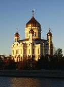 Cathedral Of Christ The Saviour In Early Morning, Moscow, Russia