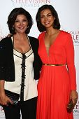 Shohreh Aghdashloo, Morena Baccarin at the 2013 College Television Awards, JW Marriott, Los Angeles, CA 04-25-13