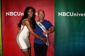 Nana Meriwether and Howie Mandel at the 2013 NBC Universal Summer Press Day , Langham Huntington Hot