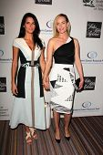 Angie Harmon and Amber Valletta at An Unforgettable Evening Presented by Saks Fifth Avenue, Beverly Wilshire Hotel, Beverly Hills, CA 05-02-13
