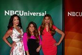 Joey Lauren, Ashlee White and Chanel Omari at the 2013 NBC Universal Summer Press Day , Langham Hunt