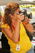 Helena Christensen at the Bullrun Rally 2004 in  Hollywood, California. June 5, 2004