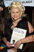 Anna Nicole Smith receives a proclamation from the City of West Hollywood declaring it