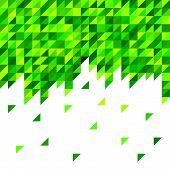 Geometric mosaic pattern from green triangle