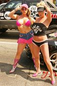 Emily Dean and Vicky Thomas at the Bullrun Rally 2004 in Hollywood, California. 06-05-04