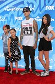 Travis Barker and guests at the American Idol Season 12 Finale Arrivals, Nokia Theater, Los Angeles, CA 05-16-13
