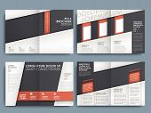 stock photo of newsletter  - Template of brochure design with spread pages - JPG
