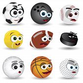 cartoon balls
