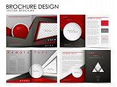 stock photo of brochure  - Template of brochure design with spread pages - JPG