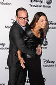 Clark Gregg and Ming-Na Wen at the Disney Media Networks International Upfronts, Walt Disney Studios, Burbank, CA 05-19-13