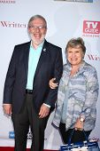 Leonard Maltin and Alice Tlusty at the WGA's 101 Best Written Series Announcement, Writers Guild of America Theater, Beverly Hills, CA 06-02-13