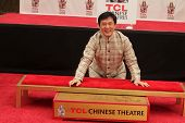 Jackie Chan at the Jackie Chan Hand and Foot Print Ceremony, TCL Chinese Theater, Hollywood, CA 06-06-13