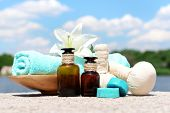 Herbal remedies for massage, outdoor