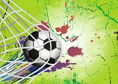 Soccer Ball on background for Football Design
