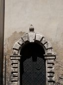 image of synagogue  - Side entrance to the Izaak Synagogue in Krakow in Poland - JPG