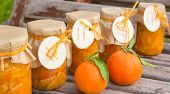 Homemade Tangerine Marmalade In The Glass