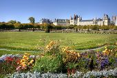 View of the Chateau de Fontainebleau and its huge park, situated close to Paris it introduced the Ma