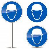 Vector Helmet Signs