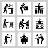 industrial worker icons